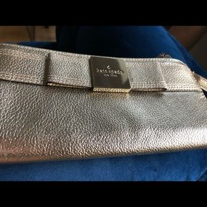 Brand New Kate Gold Bow Spade Wallet